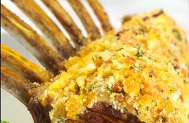 Rack of lamb with rosemary and mustard crust